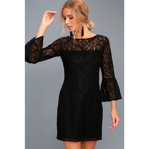 NWT BB Dakota Billie Black Lace Dress
